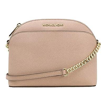 MICHAEL Michael Kors Emmy Medium Crossbody Leather Handbag (Black/gold)