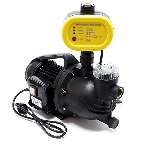 Hauswasserwerk Gartenpumpe mit Faserfänger 1100 W 4600 L/h mit Pumpensteuerung