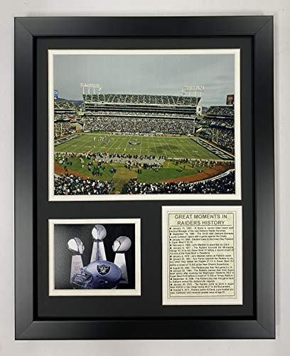 Legends Never Die Oakland Raiders Stadium- The Black Hole Collectible | Framed Photo Collage Wall Art Decor - 12 x15