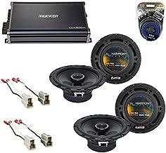 Compatible with Pontiac G3 (Hatchback) 2007-2007 OEM Speaker Upgrade Harmony R65 & CXA300.4 Amp (Renewed)
