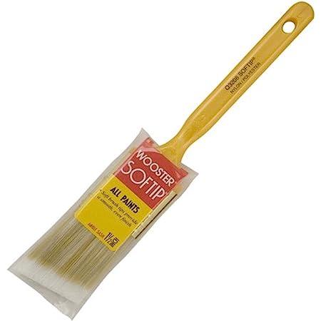 """Wooster Brush 1/2 Q3208-1.5 Q3208-1-1/2 Softip Angle Sash Paintbrush, 1-1/2-Inch, 1-1/2"""" , White"""