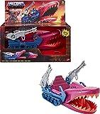 Masters of the Universe (Masters del Universo Orígenes) Vehículo Tanque Tiburón, coche de juguete (Mattel GXP43)