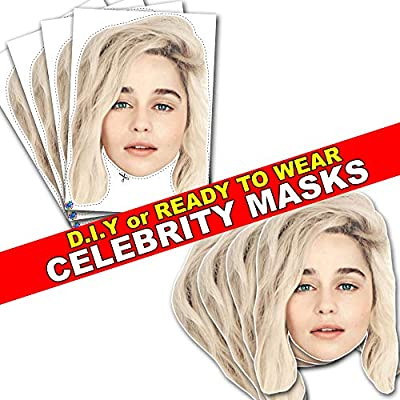 Party People Emilia Clarke - Celebrity Face Mask - DIY or Ready-To-Wear