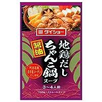 ダイショー 地鶏だしちゃんこ鍋スープ 醤油 750g×10袋入×(2ケース)