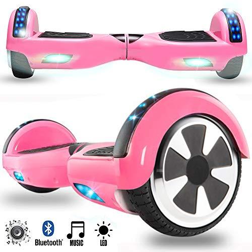 Magic Vida Skateboard Électrique 6.5 Pouces Bluetooth Puissance 700W avec Deux Barres LED...