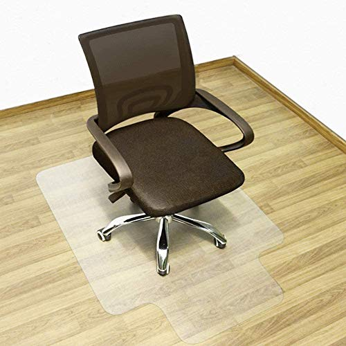 """Office Desk Chair Mat for Hard Wood Floor PVC Clear Protection Floor Mat,Premium Quality Chair Mat Thick and Sturdy (Clear, 36"""" x 48"""")"""
