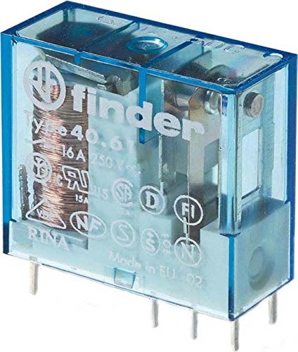 Finder serie 40 - Rele reticulado 5mm 1 conmutado 16a 24vdc sensible