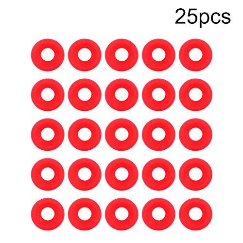 Grolsch Pakking - 25 Stks Rood Siliconen Grolsch Pakkingen voor Swing Flip Top Fles Thuis Brew Bier Fles Seals