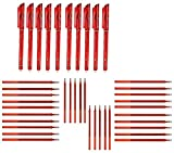RHardware 10 penne a sfera cancellabili da 0,5 mm e 30 ricariche di gel per penne, cancelleria scolastica.