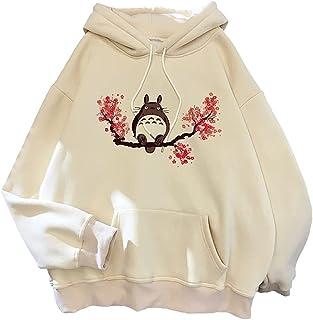 Totoro Hoodies Studio Ghibli Cute Anime Funny Cartoon Women Harajuku Ullzang Kawaii Graphic Sweatshirt Winter Warm Hoody F...