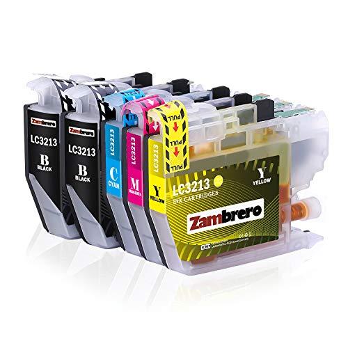 Zambrero LC-3213 Patronen Ersatz für Brother LC3213 LC3211 LC-3211 Druckerpatronen Kompatibel mit Brother MFC-J497DW MFC-J890DW MFC-J491DW DCP-J572DW MFC-J895DW DCP-J772DW DCP-J774DW J890, J572, J497