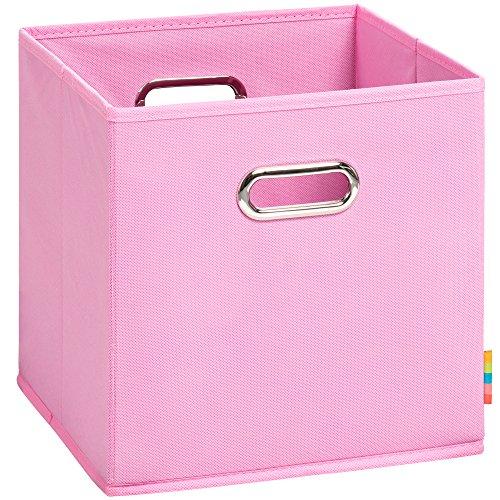 (H&S) Aufbewahrungsbox MIA - Faltbox - Korb - 28x28x28 cm - (Rosa)