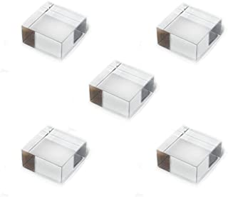 Mirart Clear Acrylic Cube 2 x 2 x 1 (5 Pack)