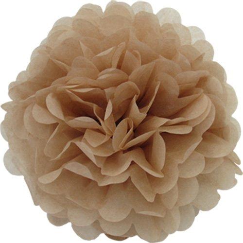 Creativery 1 Papier Pompon 20cm (Taupe 823) // Pompom Bommel Papier Kugel Seidenpapier Pompon Blumen Deko Hängedeko Raumdeko