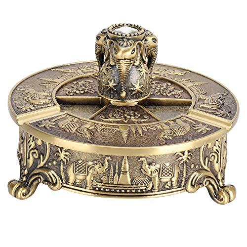 QiruIXinXi Cenicero decorativo portátil moderno, elefante de bronce, cenicero de gama alta, para decoración delicada y elegante en tu hogar u oficina