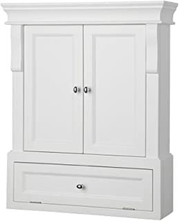 Foremost NAWO2633 Naples 26-1/2 Inch Bathroom Wall Cabinet, White