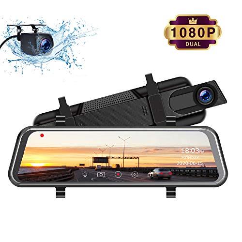 TOGUARD Mirror Dash Cam, Upgraded 10