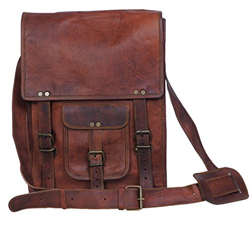 Komal's Passion Leather 11 Inch Sturdy Leather satcel Ipad Messenger Bag for men and women