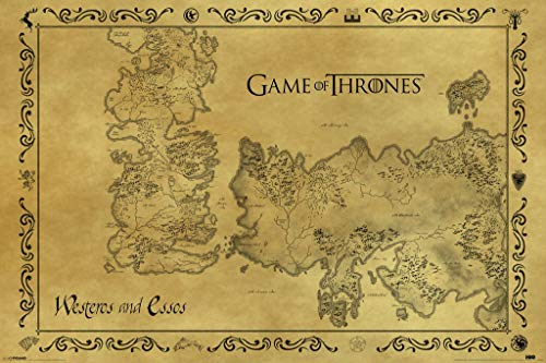 Television Game Of Thrones Antique Map GoT Poster 91.5x61cm by Game of Thrones