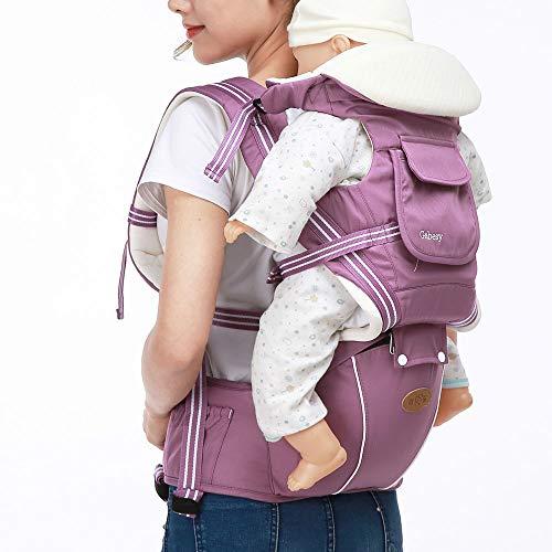 BAINA Babytrage Bauchtrage mit Hüftsitz Ergonomische für Neugeborene Kleinkinder Baby Rucksack von 3-48 Monate für alle Jahreszeiten
