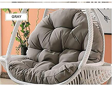 Soft Chair Cushion Hanging Egg Hammock Chair Cushions Without Stand,Multi Color Swing seat Cushion Thick nest Hanging Chair Back with Pillow-B (Color : G)