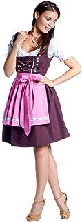 donnerlittchen! Mini-Dirndl Mia Braun mit schöner Stickerei inklusive Bluse und Schürze 32-48 Tracht
