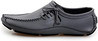 Men's Large Size Peas Shoes Genuine Leather Loafers Handmade Driving Shoes