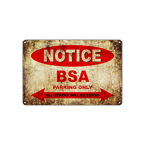 BSA Motorfietsen Alleen Alle Anderen Worden getrokken Parking Teken Vintage Retro Metalen Decor Art Shop Man Cave Bar Aluminium Teken Plaat 8