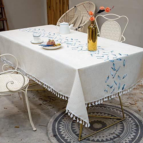 Mantel Rectangular Mantel Lavable Rectangular, Elegantes Impresos, para jardín, Habitaciones, decoración de Mesa - Azul 130x280cm