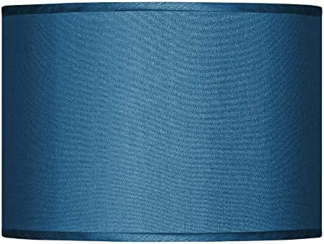 Blue Faux Silk Lamp Shade Now on sale unisex 13.5x13.5x10 Possini Euro Spider D -