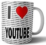 I Love YouTube - Tè - Caffè - Tazza - Tazza - Compleanno - Natale - Regalo