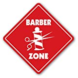 [SignJoker] BARBER ZONE Sign xing gift novelty trim hair cut shave barber shop fade Wall Plaque Decoration