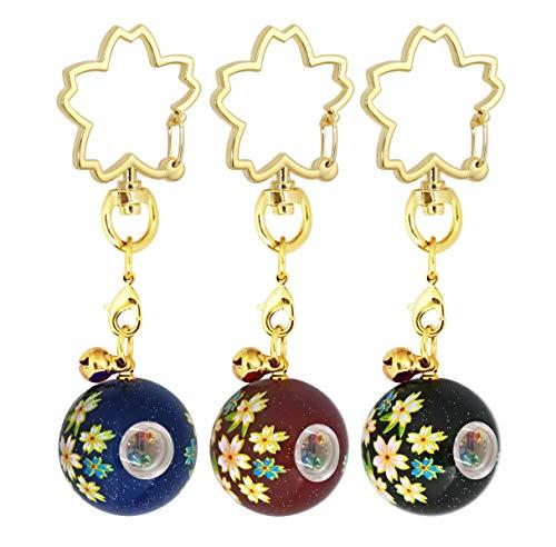 ZOON(ズーン) 万華鏡 キーホルダー お得なセット3(3個入) 漆 和柄 日本製 お土産 セット3(紺、えんじ、黒)