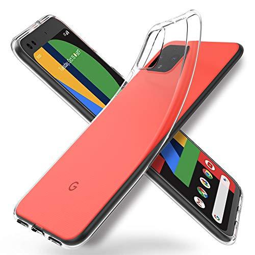 """ORNARTO Durchsichtig Kompatibel mit Pixel 4XL Hülle, Transparent TPU Flexible Silikon Handyhülle Schutzhülle Hülle für Google Pixel 4 XL(2019) 6,3""""-Klar"""