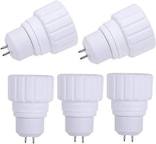 Matefield 5pcs Heat Resistant MR16 to GU10 Base Lamp Holder Socket Converter Adapter