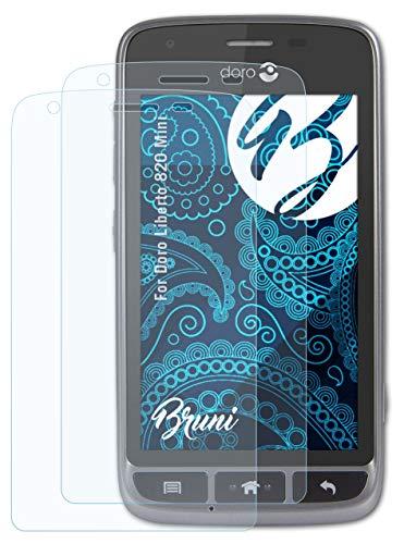 Bruni Schutzfolie kompatibel mit Doro Liberto 820 Mini Folie, glasklare Bildschirmschutzfolie (2X)