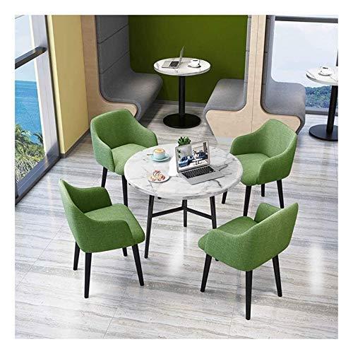 Conjunto de mesa de comedor para cocina o decoraci Tabla Ocio y Juego de sillas de Hogares del hogar nórdicos Ronda de cocina Mesa de comedor del hotel Balcón Cafe estilo minimalista ( Color : Green )