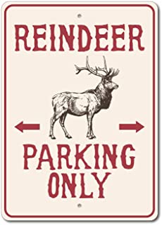 The Lizton Sign Shop Reindeer Parking Sign, Reindeer Decor, Reindeer Sign, Reindeer Lover Gift - 12