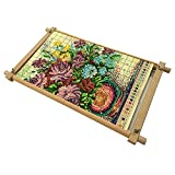 Cross Stitch Tapestry Frame, Beech Wood Needlepoint Scroll Frame guofa Embroidery Quilting Frame Stitching Holder Art Craft Tool for Handwork (11.2'' х 18.1'')