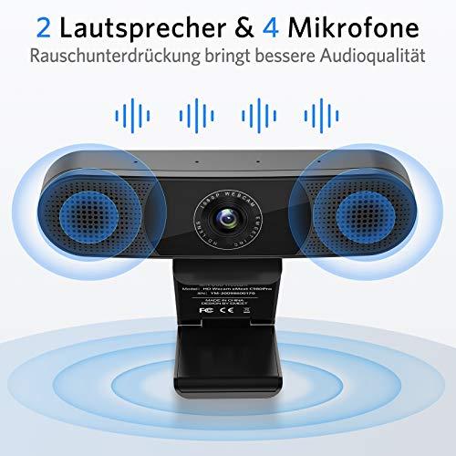 eMeet C980PRO 1080p Webcam mit Lautsprechern