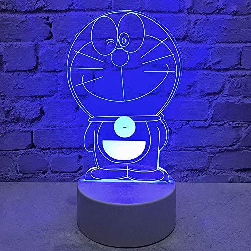 Lámparas infantiles Lámpara de mesa recargable con control remoto usb de dibujos animados con luz nocturna pequeña lindo regalo de cumpleaños creativo 3D para niños y niñas