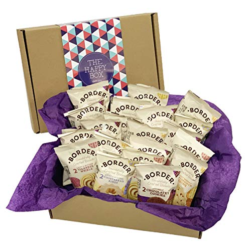 Biscuit Gift Hamper to Share - Border Biscuit Hamper Filled with 5 Different Flavours, Gift for Her, Gift for Him, Birthday Gift, Thank You Gift.