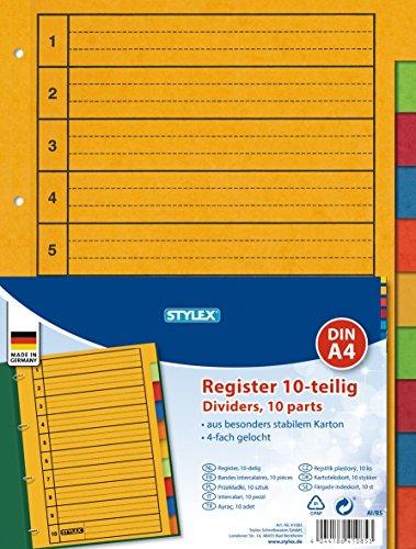 Ordner-Register, 10- teilig, DIN A4
