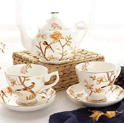 ZQADTU Porcelain Tea Set Afternoon Tea Sets with Afternoon Tea Tea Set Household Ceramic Flower Tea Cup Bone China