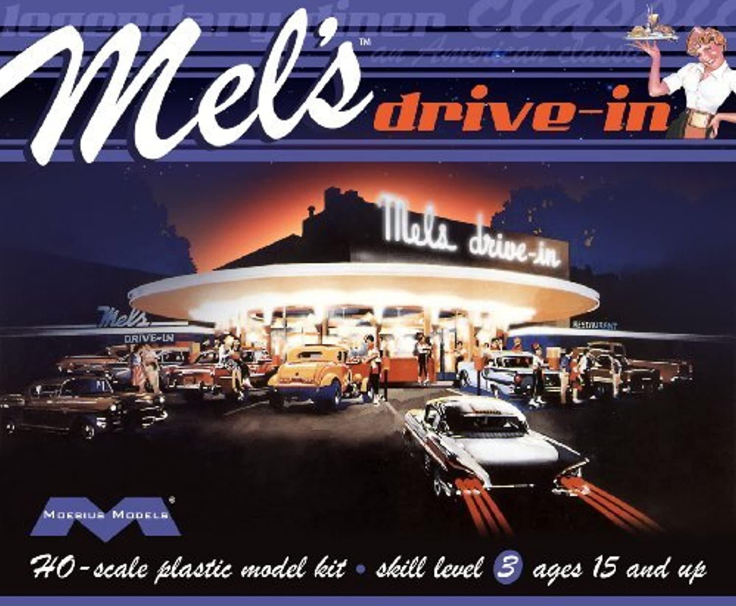 1 87 Mel's Drive in by Moebius Models