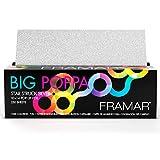 Framar Big Poppa Star Struck Silver Pop Up Hair Foil, Aluminum Foil Sheets, Hair Foils For Highlighting - 500 Foil Sheets – 10x14 inches