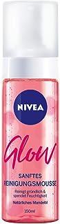NIVEA Glow Reinigungsschaum im 1er Pack, feuchtigkeitsspendendes Reinigungsmousse mit Mandelöl, gründliche und sanfte Gesichtsreinigung