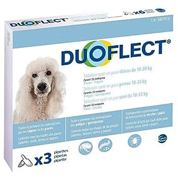 CEVA Duoflect 3 Pipettes de Solutions Anti Puces/Poux/Tiques pour Chien de 10-20 kg
