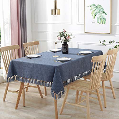 YHSW wasbaar tafelkleed van katoenen linnen, rechthoekig tafelkleed, perfect voor de keukendecoratie