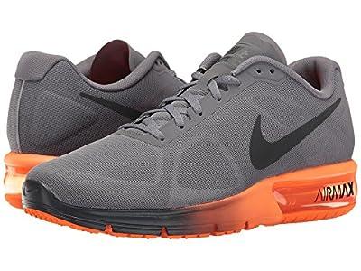 Nike Men's Air Max Sequent Running Shoe Cool Grey/Hematite/Total Orange Size 12 M US